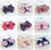 Wholesale New Candy Color Solid Dot Leopard Print Bow Hairpin Hair Clips for Baby Girls Kids Hair Accessories