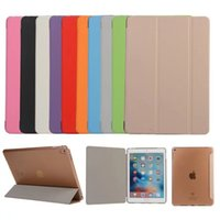 Wholesale iPad Pro Case Clear Leather Stand Flip Case Silk Skin Smart Cover For iPad Air Air Air2 Air3 Mini Mini2 Mini3 Mini4 Free