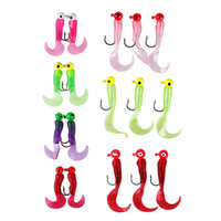 Wholesale 17pcs Pack Value Pack Silicone Soft Bait Lead Head Hooks Lures Fishing Hook Pesca Fishing Tackle Accessories