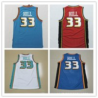 Wholesale NO HILL Embroidered Basketball Jerseys Pistons Number Basketball Suit Basketball Clothes Throwback Basketball Jerseys