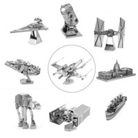 Wholesale D Metal Puzzles Laser Cut Jigsaws Fighter Robot DIY Kid Adult Toy Gift