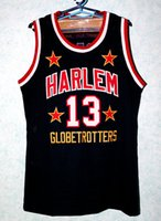 Wholesale Wilt Chamberlain Harlem Globetrotters Basketball Jerseys Custom Embroidery Stitched Custom any name numbers