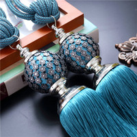 Wholesale one pair luxury Home Decoration Window curtain clips accessories Hanging Belt Ball curtain strap Curtain tassel tieback Buckle