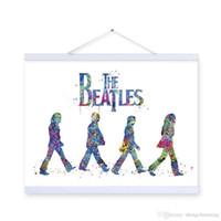 beatles art prints - Original Watercolor Beatles Living Bed Room Modern Wall Art A4 Large Pop Rock Music Celebrity Poster Prints Canvas Painting Gift