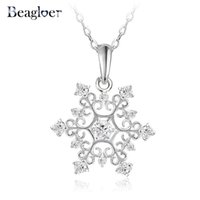 b jewellery - Exquisite Snowflake Pendant Platinum Plated with Zirconia Jewellery Valentine s Day Gift CNL0215 B