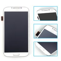 Wholesale For Samsung Galaxy S4 i9505 LCD with Touch Screen Digitizer White color GuaranteeScreen Digitizer frame Assembly
