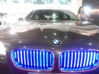 Wholesale Newest LED Chromed BMW Series F10 F18 Fluorescent Front Grille Lighted Grille Freely Opened and Closed