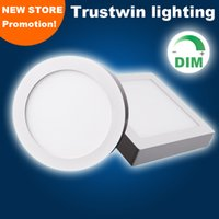 Wholesale 4 pieces W W W W LED panel dimmable ceiling surface LED panel light white surface mounted dimmable LED ceiling light downlight