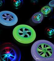 Wholesale Chrismas gift toy flash frisbee colorful disc rotating fly Luminous UFO LED frisbee toys