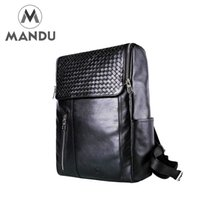 Wholesale High Quality England Vintage Style Genuine Leather Men Backpacks For College Preppy Style School Backpacks Newest Mochila In Stock MD3007S