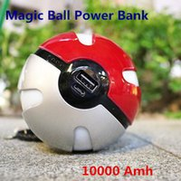 ar cases - 2016 Hot Sale For Poke Go Magic Ball Power Bank Amh Chager With LED Light For AR Games