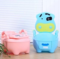 Wholesale Fashion Cute Cow Cartoon Baby Toilet Potty Seats Infant Portable Toilet Unisex Lovely Drawer Training Potty T7012