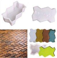 Wholesale Wave Shape Garden DIY Walking Path Maker Cement Brick Mold Perfect construction tool