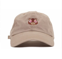 Wholesale Yeezus Embroidered Glastonbury Unstructured hat Kanye West Ye Bear Dad Cap Unreleased Hat casquette sun caps drake god pray ovo hats