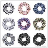 american girl pony tail - Hair Accessories Scrunchie Cute Hair Ring Girl Women s Fashion Hair Jewelry Pony Tails Holder Fullprint Hair Band Emoji Pattern
