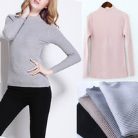 Wholesale New Women Long Sleeve Knitted Pullover Top Stretch Slim Sweater Cardigan Jumper Top Knitwear