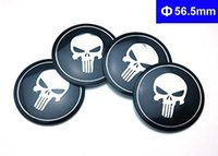 Wholesale 4PCS Rims Wheel hub caps cover Emblem Metal decal self adheisve Punisher logo for suzuki lexus caddilac seat subaru peugeot volvo jeep jagua