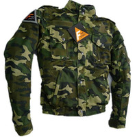 Wholesale Breathable Mesh Camouflage Motorcycle Jackets Anti Pilling Anti Wrinkle Quick Dry Adjustable Racing Jackets for Men