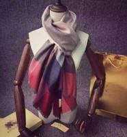 Wholesale Fashion Winter New Hot Sale Womens Mens Plaid Hats Scarves Gloves Scarves Fashion Brand Check Designer Scarfs