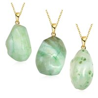 agate jewelery - Fashion women s irregular crystal stones quartz natural agate necklace necklace pendant necklace jewelry jewelery N001 A