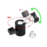 Wholesale Andoer Degree Swivel Camera Flash Hot Shoe Umbrella Holder Swivel Light Stand Bracket C quot to quot Adapter