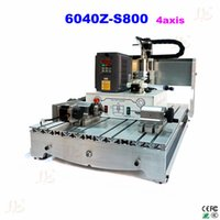 Wholesale 4 axis mini CNC router Z S W water cooling cnc spindle mini cnc cutting machine for metal wood
