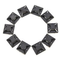 Beverage adhesive wall clips - 10PCS X20mm Self Adhesive Cable Wire Zip Tie Mounts Mounting Base Clamps Clip
