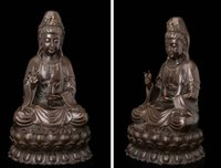 art deco people - Art Deco Sculpture Avalokitesvara Guanyin Kwanyin Buddha Hold Vase Bronze Statue