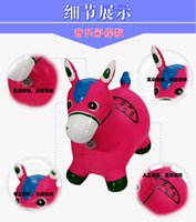 Wholesale Children s inflatable toy horse jumping horse jumping deer thickened to increase nontoxic music inflatable baby horse riding
