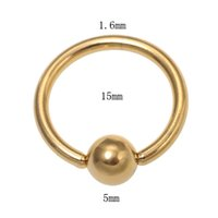 Wholesale Quality Titanium plated Captive Bead Rings Unisex Body Piercing Jewelry Nose Nipple Lip Eyebrow Tongue Rings