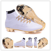 Wholesale Men Mercurial Superfly CR7 Soccer Shoes Soccer Cleats anniversary original football boots men Football Shoes