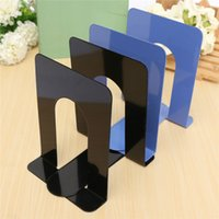Wholesale One Pair of Bookends Solid Foldable Portable Metal Bookends Shelf Holder Home Stationery Library School Office Stationery Supply