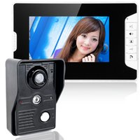 Wholesale 7inch Color TFT LCD Line Video Door Phone Video Intercom Monitor Night Vision without Radiation Home Security F1610A