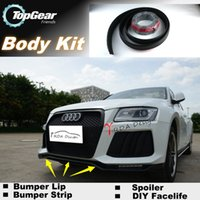 Wholesale Bumper Lips For Audi Q5 SQ5 Front Skirt Deflector Spoiler For Car Tuning The Stig Recommend Body Kit Strip