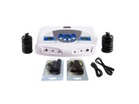 Wholesale Dual Detox Foot Spa with MP3 Player Ion Cleanse Foot Spa Device with FIR Belt Earplug AH C