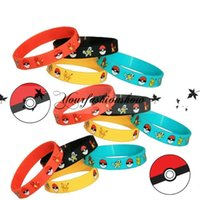Wholesale Poke Bracelets Pocket Monster silicone wristband Soft Silicone Wrist Straps Kids Children Anime Gifts styles M138