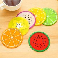 Wholesale New Hotsale Kitchen Accessories Candy Color Soft Table Mats Drink Coasters Coffee Cup Plate Bowl Pad Placemats For Table