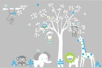 baby safari - Jungle Safari Animals Repositionable Reusable Wall Decal Baby Nursery quot x quot