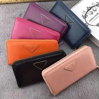 Wholesale genuine leather excellent quality brand zipper casual wallet for women hot selling