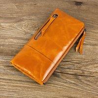 Wholesale 2016 Hot Sale Genuine Leather Wallet Women Fashion Real Cowhide Wallet Long Design Clutch Female Purse Bag Portefeuille Femme