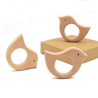 baby boy charm - 20pcs x mm Organic beech wood CHARM BIRD Ring teether nursing toy inch DIY fitting Handcrafted baby boy gift EA52