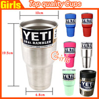 Wholesale Yeti Cups Cooler Stainless Steel YETI Rambler Tumbler Cup Car Vehicle Beer Mugs Vacuum Insulated oz oz oz