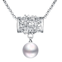 best cz jewelry - Pearl Silver Plated Pendant Necklace Fine Jewelry Womens CZ Necklace Best Selling
