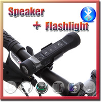 bicycle charger usb - Multifunction Bluetooth Speaker in1 wireless Speaker sports Portable Flashlight with holder in bicycle Stereo Speaker USB Charger free DHL
