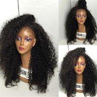 Wholesale 8A Full Lace Human Hair Wigs for Black Women Glueless Full Lace Wigs Brazilian Virgin Hair Deep Curly Lace Front Human Hair Wigs