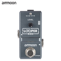 Wholesale ammoon AP Nano Loop Effect Pedal Looper Electric Guitar Effect Pedal True Bypass Unlimited Overdubs Minutes Recording