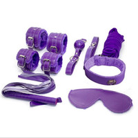 adult model kits - 8Pcs Leather Fetish Bandage Set sex toys for adults Kit extreme Bedroom Restraint Handcuff Fun Sex Model BK erotic toys