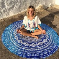 Wholesale 17 Types Round Beach Towel Bohemian Style Rayon Fabric Bath Towels Round Printed Serviette Covers Blankets