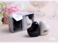 Wholesale wedding favor and wedding gift quot Mr Mrs quot Ceramic Salt and Pepper Shakers Event Party Favors and gift pairs