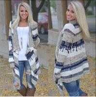 asymmetrical poncho - 2016 New Long Sleeve autumn Women Cardigan Loose Knitting Sweater Fashion patchwork Color asymmetrical Poncho Women clothes